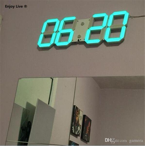 Diy Led Wall Clock In 2020 Led Wall Clock Led Diy Digital Wall