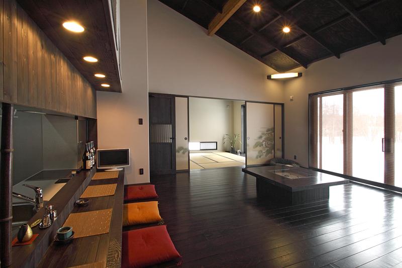 和室 壁紙 家 内観 ダイニング リビング 居間 住宅建築 Dream House