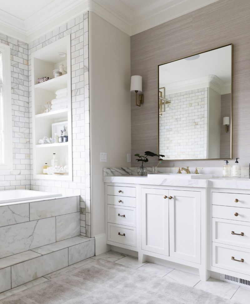 My Master Bath Reveal (With images) Marble bathroom