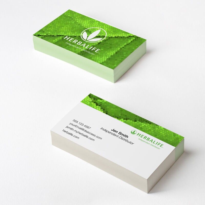 Herbalife Green Mosaic Business Card Dsaccess Businesscards Herbalifebusinesscards