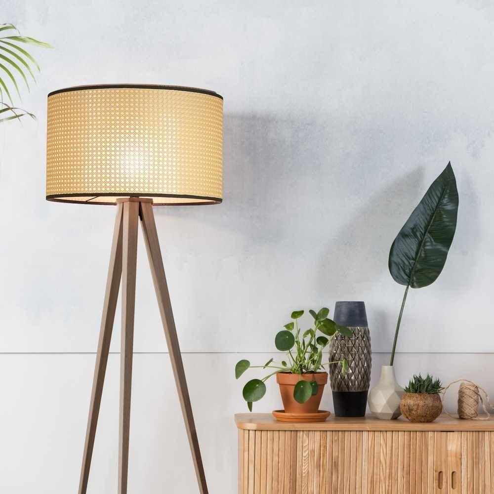 Zuiver Tripod Webbing Floor Lamp Cane Walnut Floor Lamp Lamp Floor Lamp Design