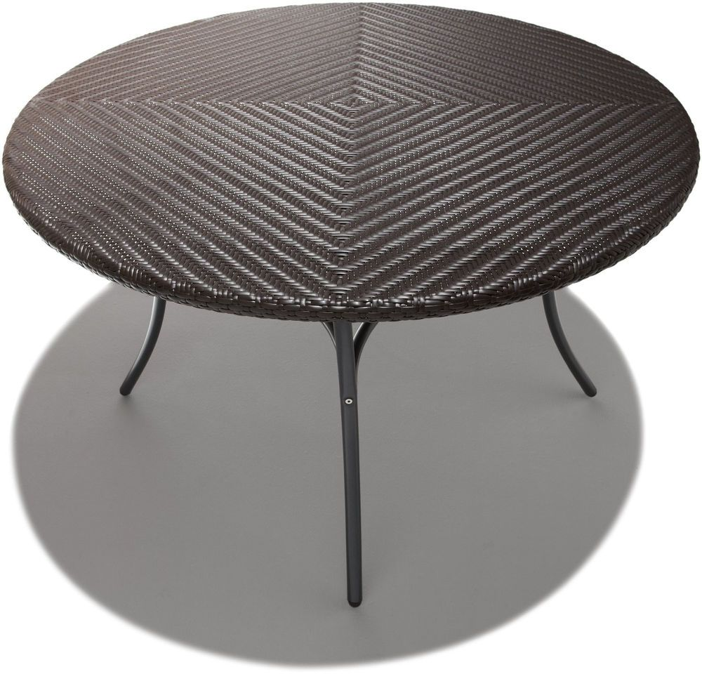 Strathwood Padre All Weather Wicker 48 Inch Round Dining Table Yard