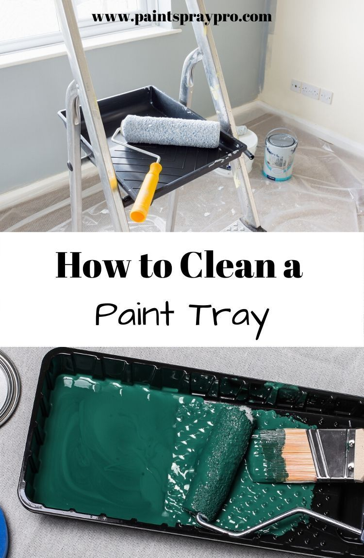 How To Clean Paint Brushes And Rollers Cleaning Paint Rollers Paint Brushes Rollers Painted Trays