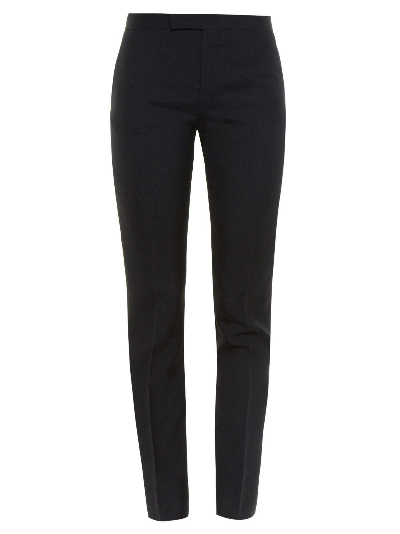 Skinny-leg wool-twill trousers   Saint Laurent   MATCHESFASHION.COM ... f8b907af4b