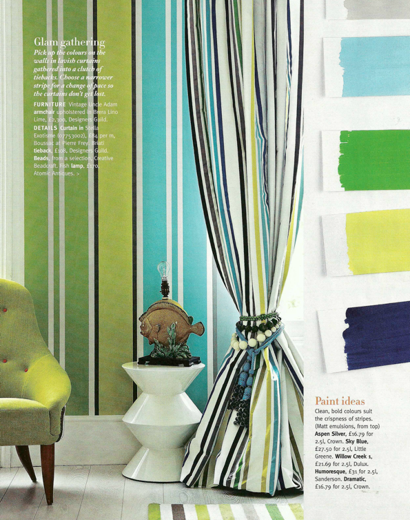 striped curtains, future kitchen to match my chocolate, turqouise ...