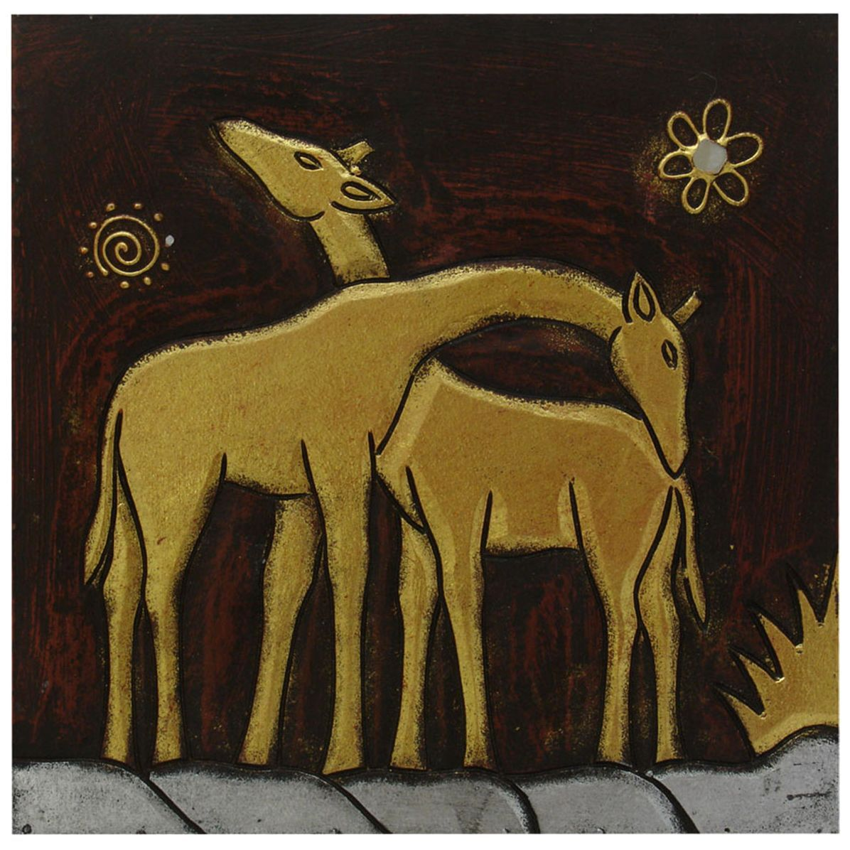 Hand-Carved \'Giraffe Pair\' Wall Panel, Handmade in Indonesia | Hand ...