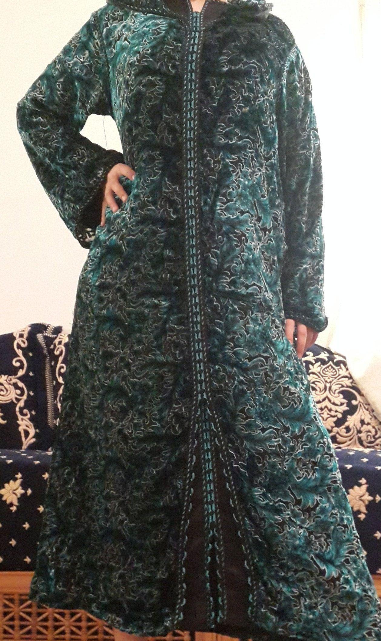 Caftan Kaftan Handmade Djellaba Jellaba Abaya Blouse African Moroccan X-large