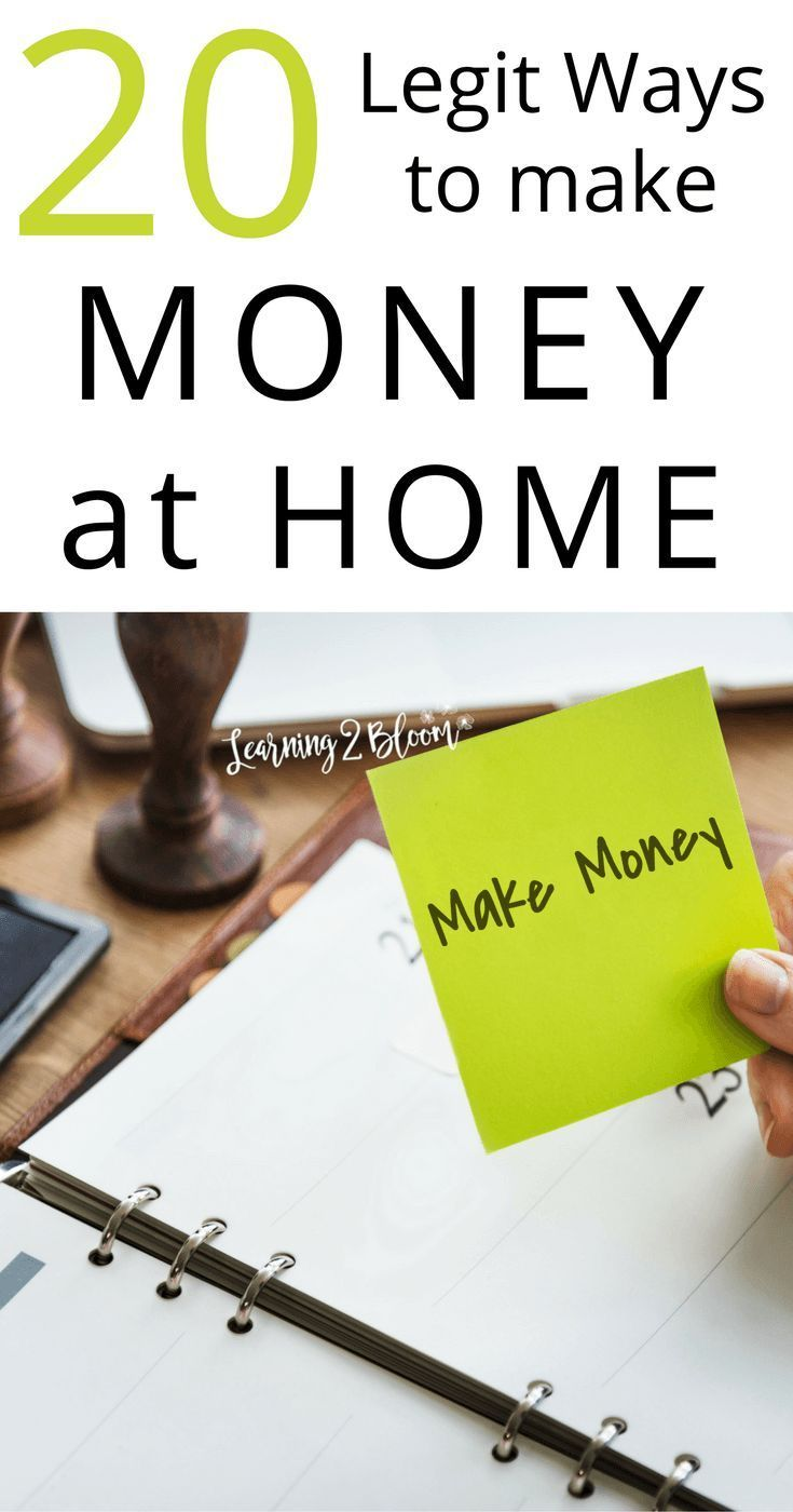 20 Legit Ways to Make Money from Home | Earn extra cash, Extra cash ...