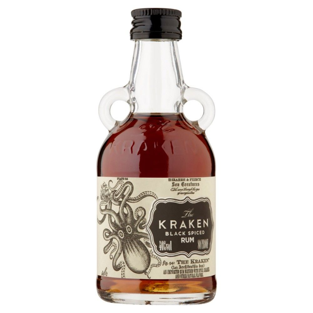 Kraken Black Spiced Rum 5cl Miniature Spiced Rum Rum Gin Miniatures