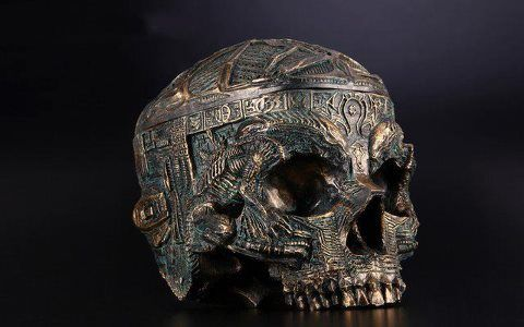 """A kapala (Sanskrit for """"skull"""") or skullcup is a cup made from a human skull used as a ritual implement (bowl) in both Hindu Tantra and Buddhist Tantra (Vajrayana). Especially in Tibet, they were often carved or elaborately mounted with precious metals and jewels. Many of the deities of Tibetan Buddhism, including Mahasiddhas, Dakinis and Dharmapalas are depicted as carrying the kapala, usually in their left hand."""