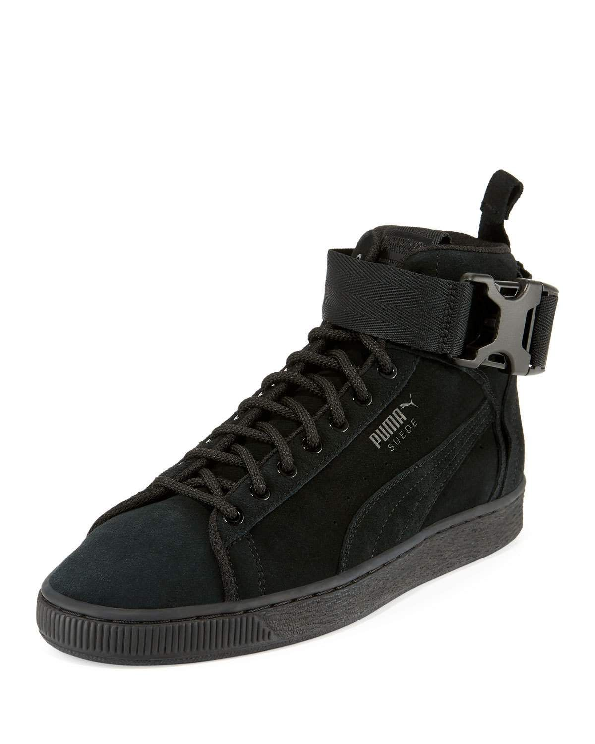1316053df9b21 PUMA MEN S SUEDE MID-TOP BUCKLE SNEAKERS.  puma  shoes