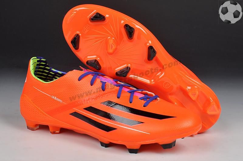 Cheap (Volt Orange) TRX FG Leather Adidas F50 AdiZero 2014