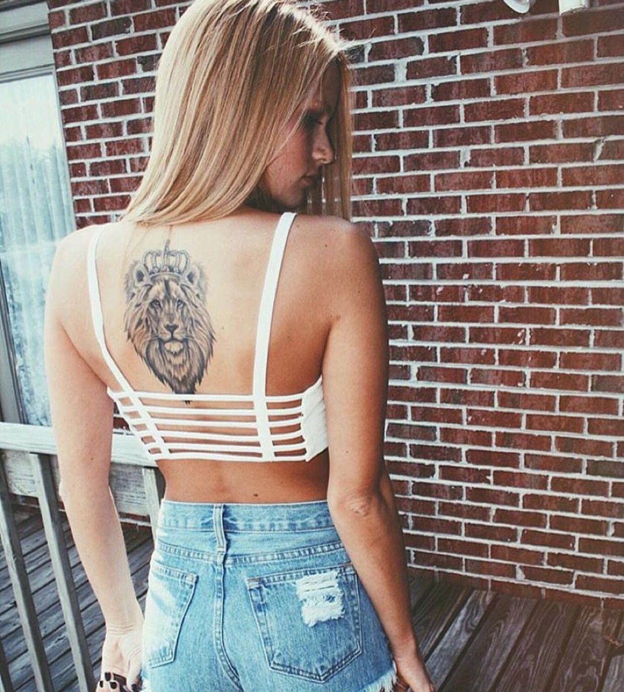 Ink Tattoo Lion Back Girls And Tattoos Lion Back Tattoo Lion
