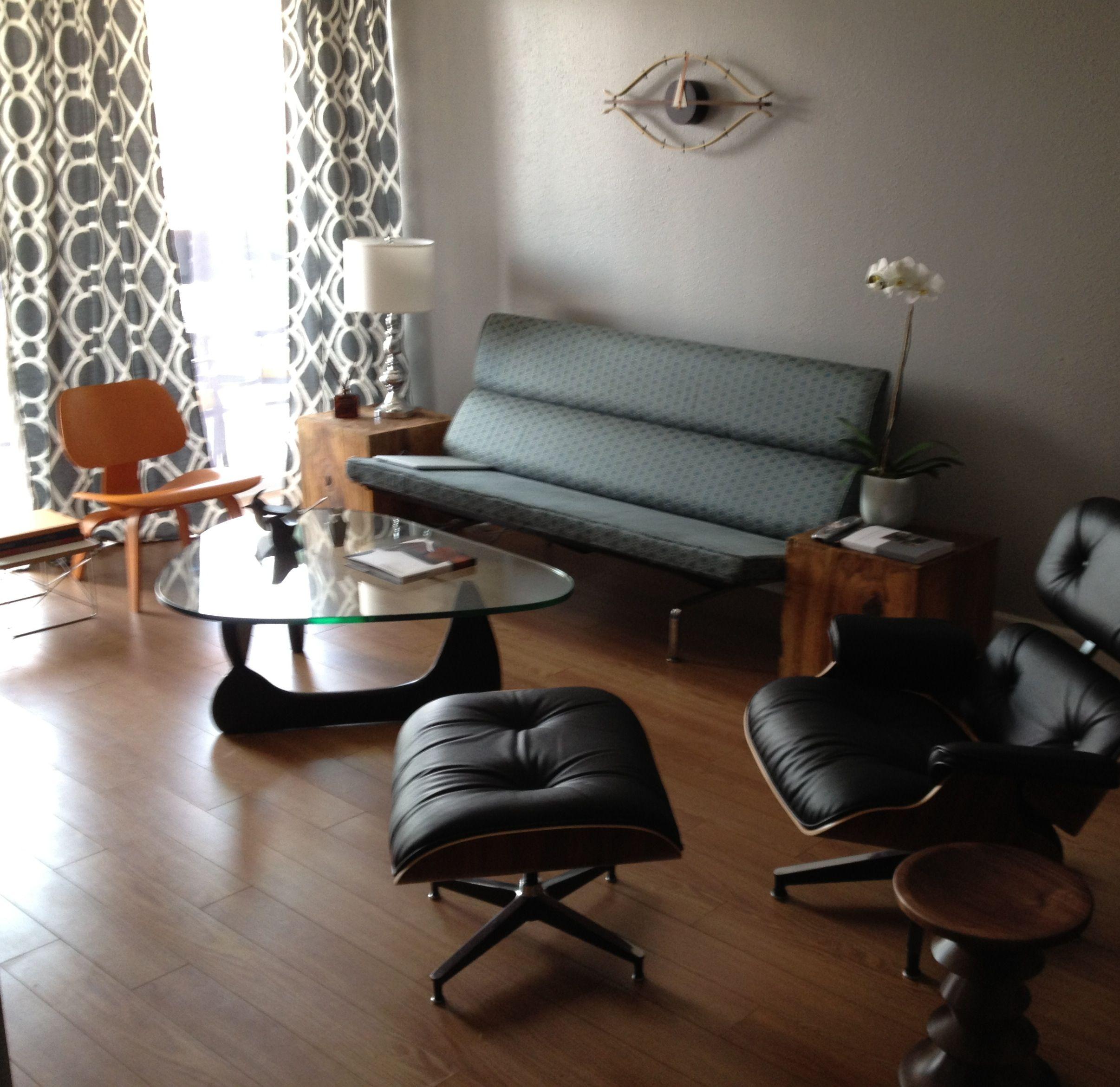 Eames Sofa Compact Orange Lcw Eames Lounge Chair Noguchi Table