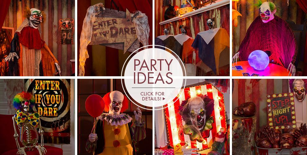 Carnival Halloween Party Ideas.Creepy Carnival Halloween Decorations Party Ideas Click