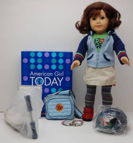 LOVE Lindsey! American-Girl-Pleasant-Company-Lindsey-Doll-2001-Meet-Outfit-Laptop-Scooter-LOT