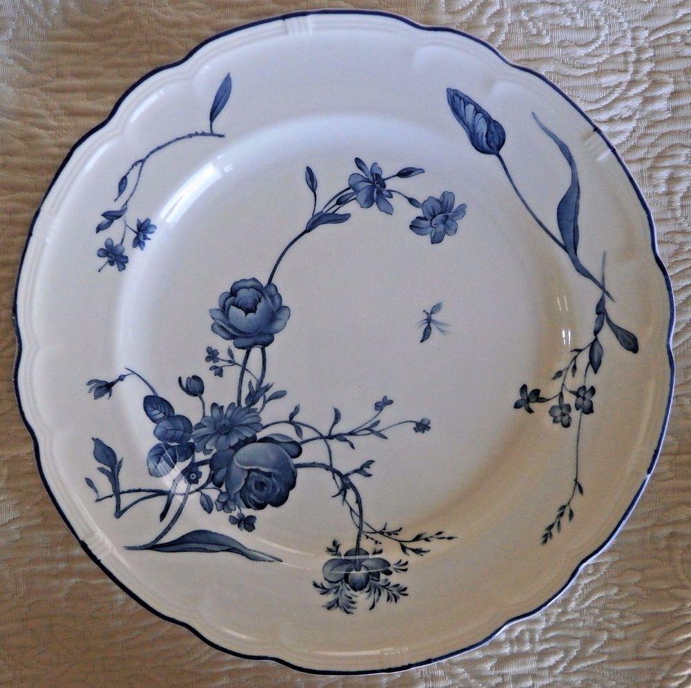 NIKKO Antoinette Blue Blue u0026 White Roses French Country Coll. Dinner Plate New #Nikko #FrenchCountry & NIKKO Antoinette Blue Blue u0026 White Roses French Country Coll. Dinner ...
