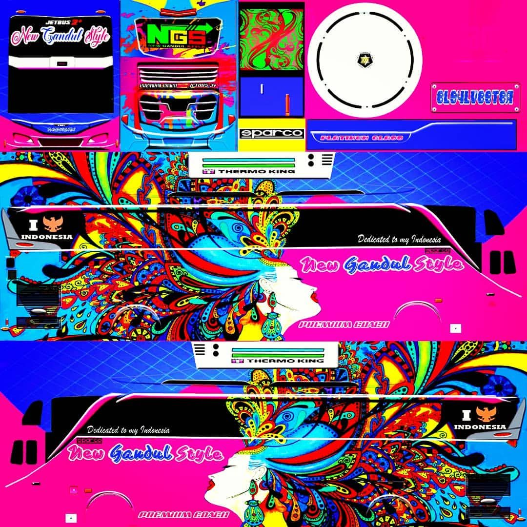 Media By Newgandulstyle Livery Bussid Tipe Bus Shd Judul Art Design Spec Konsep Mobil Stiker Mobil Lukisan Galaksi