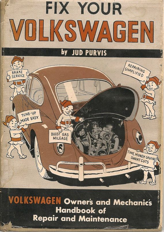 VINTAGE BOOK Fix Your Volkswagen by HazelCatkins on Etsy, $15.00