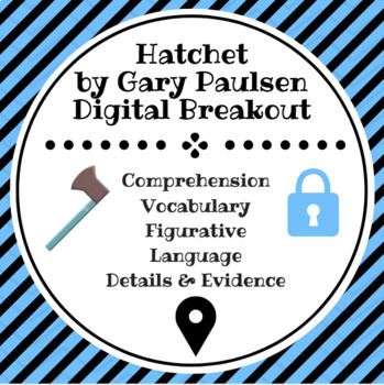 Looking For A Digital Breakout Covering The Novel Hatchet If So Then This Is The Document For You All You Need Is Connection Digital Gary Paulsen Vocabulary