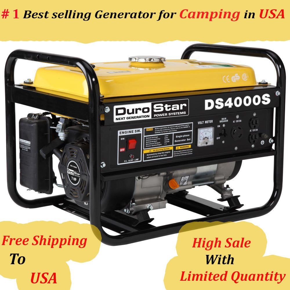 Durostar Ds4000s 4000 Watt 7 Hp Generator Free Shipping Usa Durostar Best Portable Generator Portable Generator Gas Powered Generator