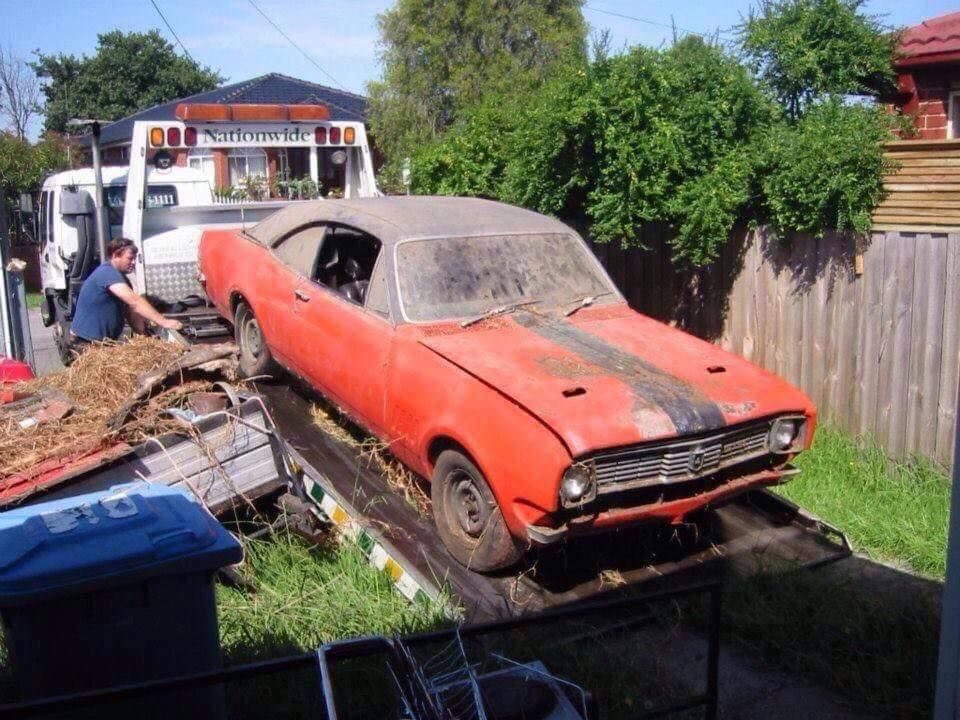 Monaro HT GTS Holden muscle cars, Abandoned cars