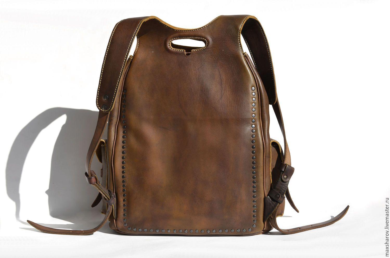 7f5397930d43 Купить Кожаный рюкзак ручной работы