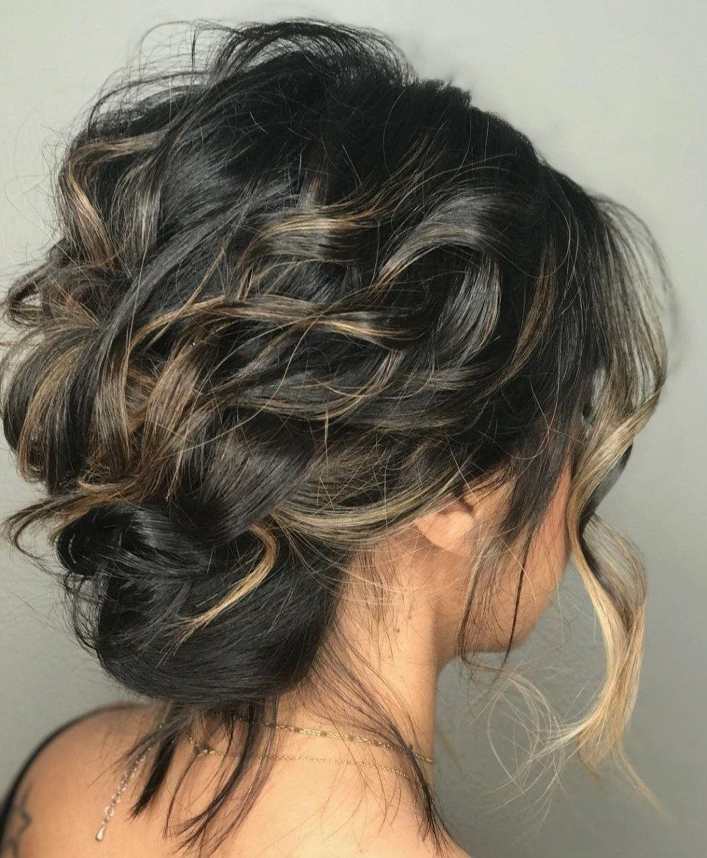 13+ Medium length hairstyles for thick hair updo ideas