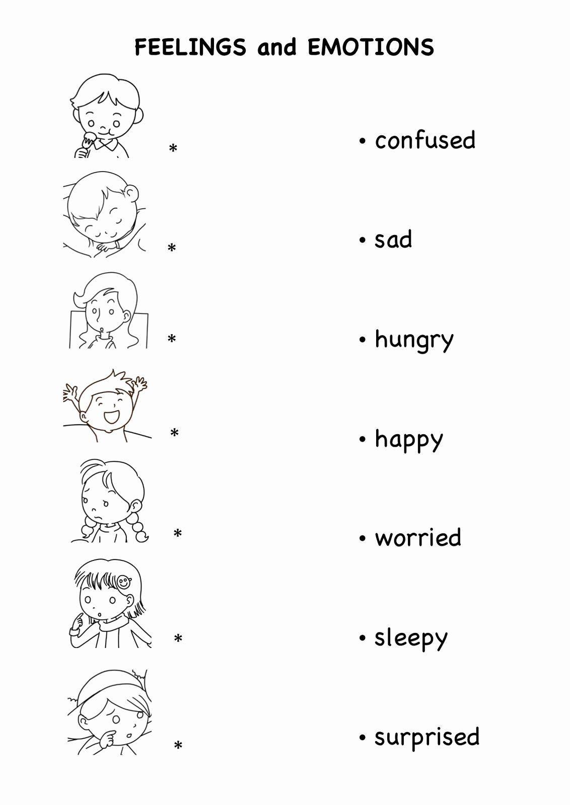 Feelings Worksheet For Kindergarten Feelings Worksheet For Preschool Stude Kindergarten Worksheets Printable Kindergarten Worksheets Kids Worksheets Printables [ 1600 x 1132 Pixel ]