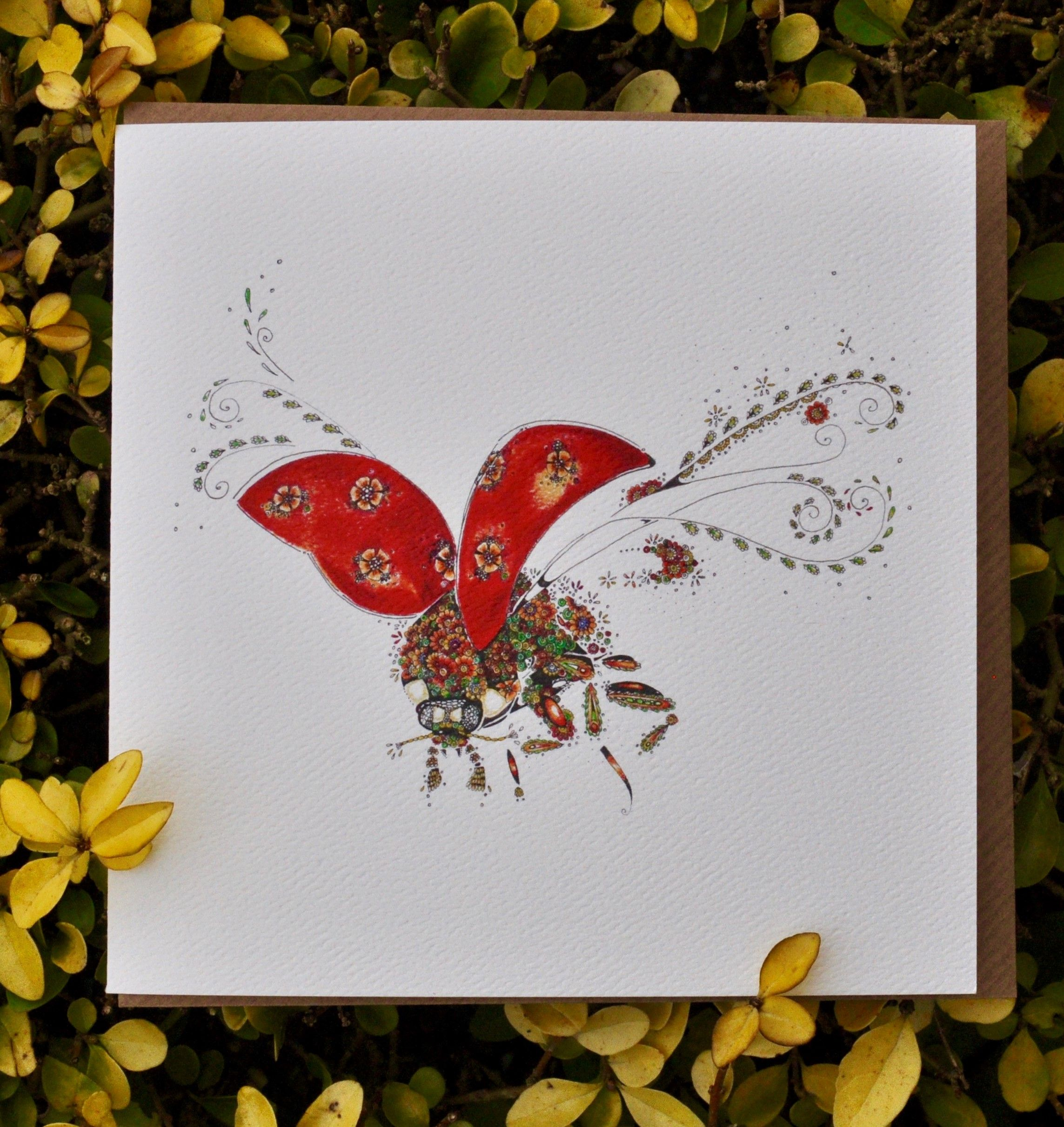 One Of My Latest Illustrations Of A Ladybird Flying Available As A