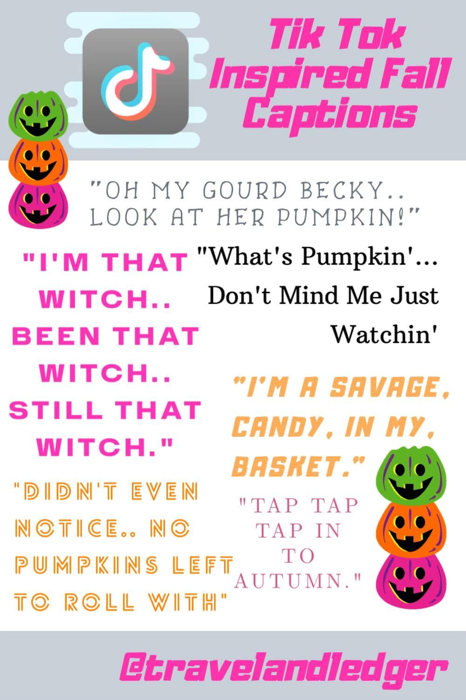 Tik Tok Inspired Fall Captions Video Instagram Captions Positive Quotes Fall Instagram Captions