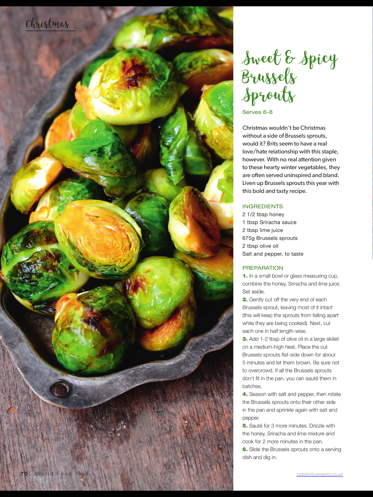 Sweet and spicy Brussels sprouts Tasty ingredients
