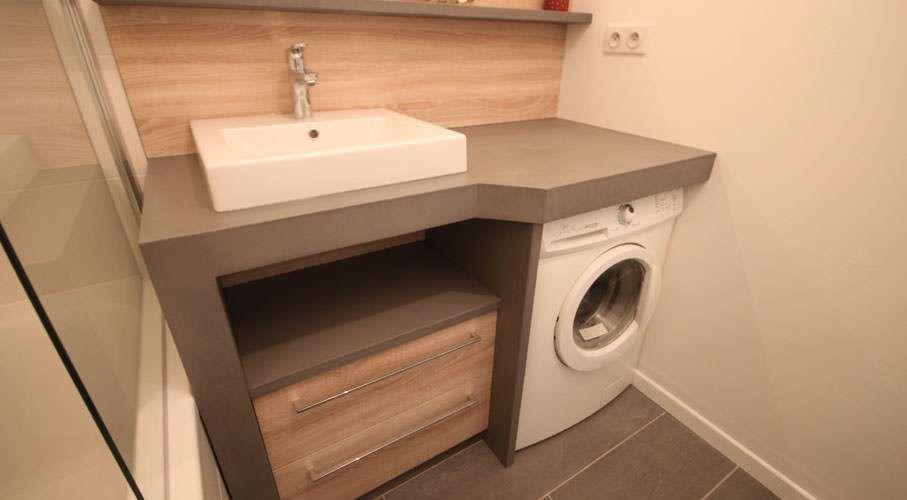 Petite salle de bains comment int grer son lave linge salle de bains int gr meuble vasque - Meuble salle de bain lave linge integre ...