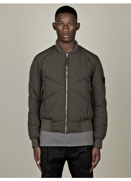 Stone Island Shadow Project Men's Down Filled Bomber Jacket ...