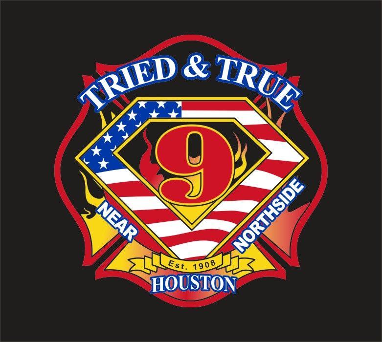 Houston Fire Dept Station 9 Logo Ems patch, Emergency
