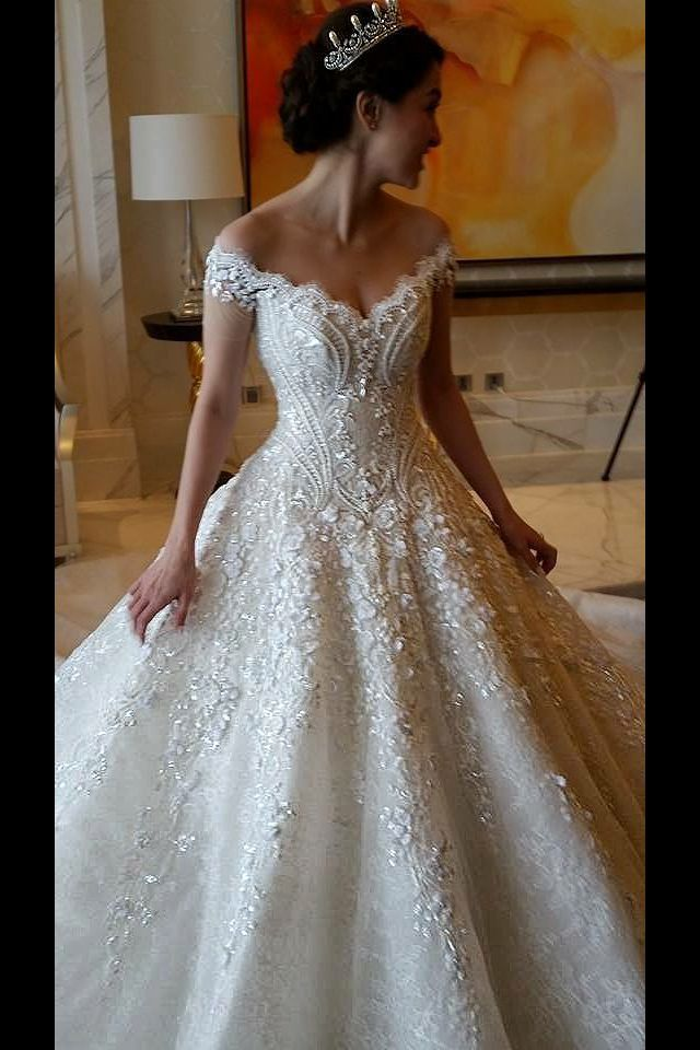 Princess Wedding Dresses : Marian Rivera\'s gown made by Michael ...