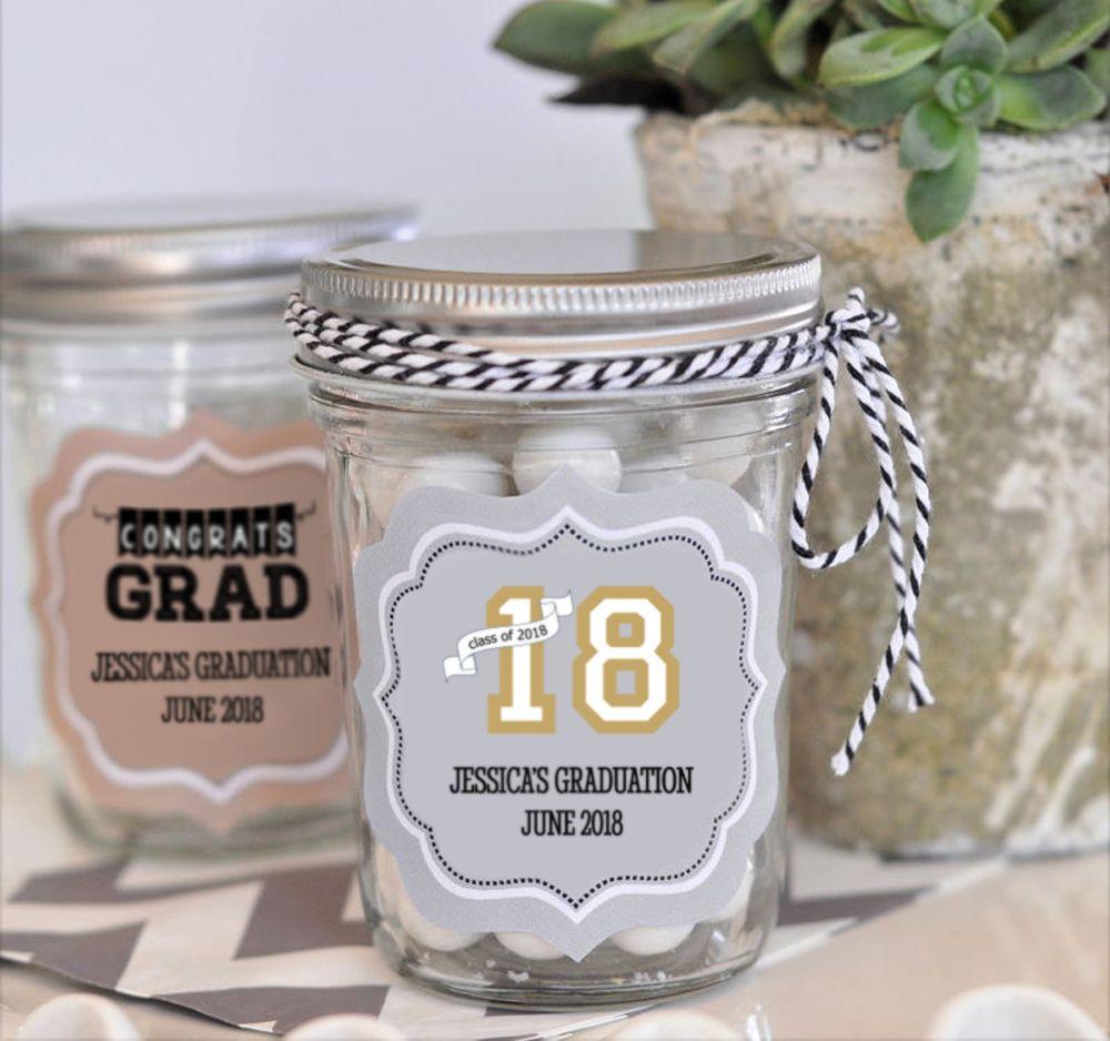 Personalized Graduation Mini Mason Jars | Mini mason jars and Jar
