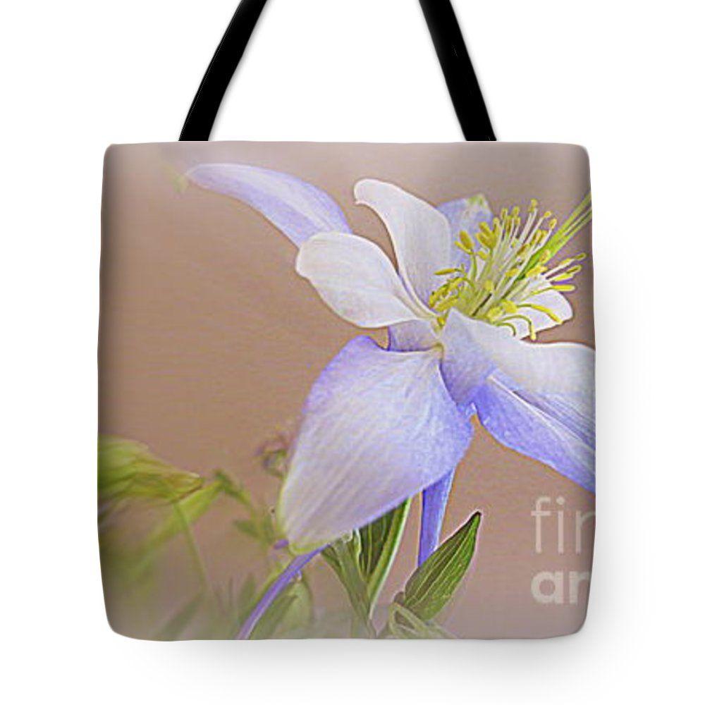 Soft and lovely columbine flower tote bag for sale by kay novy tote bag columbine flower floral nature garden spring photography kaynovy kkphoto1 izmirmasajfo