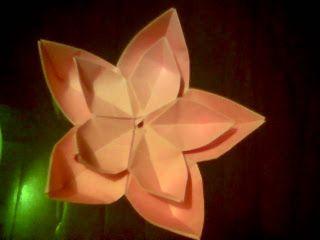 O QUE É MEU É NOSSO: Origami Flor de Cerejeira