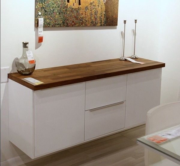 Hang A Buffet On Wall Ikea S Shallow Base Cabinets