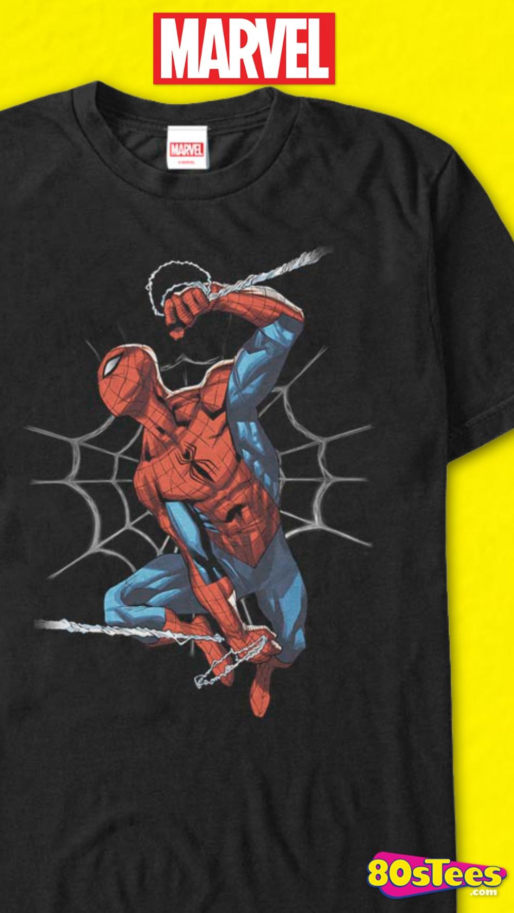 Adult Men/'s Marvel Comics The Amazing Spider-Man Red Spider Logo Black T-Shirt