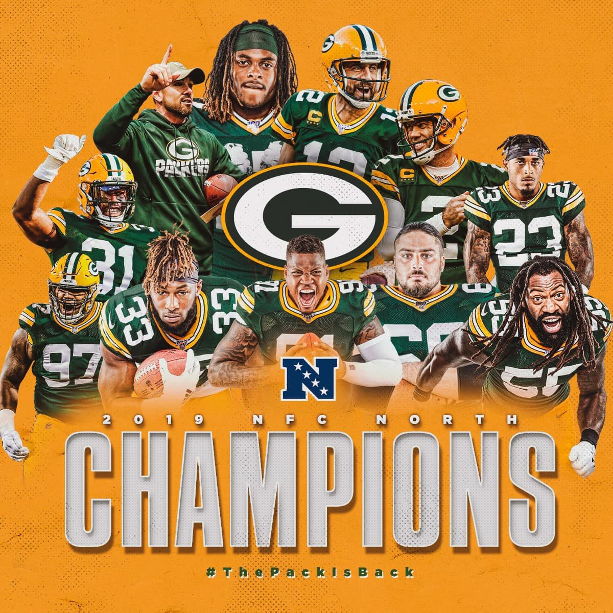 Nfc North Champions Green Bay Packers Green Bay Packers Football Green Bay Packers Fans