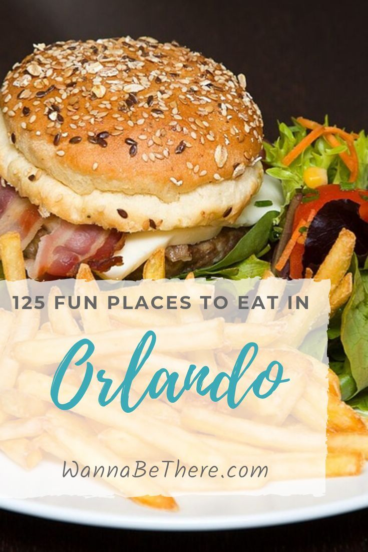 125 Best Fun Places to Eat in Orlando for Families and for Adults There are so many fun places to eat in Orlando Florida, and this is a huge list of 125 to choose from. Here are some of the top Orlando restaurants. You'll find some of the best family restaurants while you're there. Even restaurants in downtown Orlando and also on International Drive. Check em out!