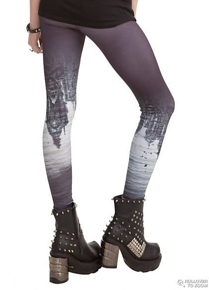404f76cdede MORTAL INSTRUMENTS  City of Bones Leggings   Yoga Pants Tripp NYC (M) Hot  Topic!  TrippNYC