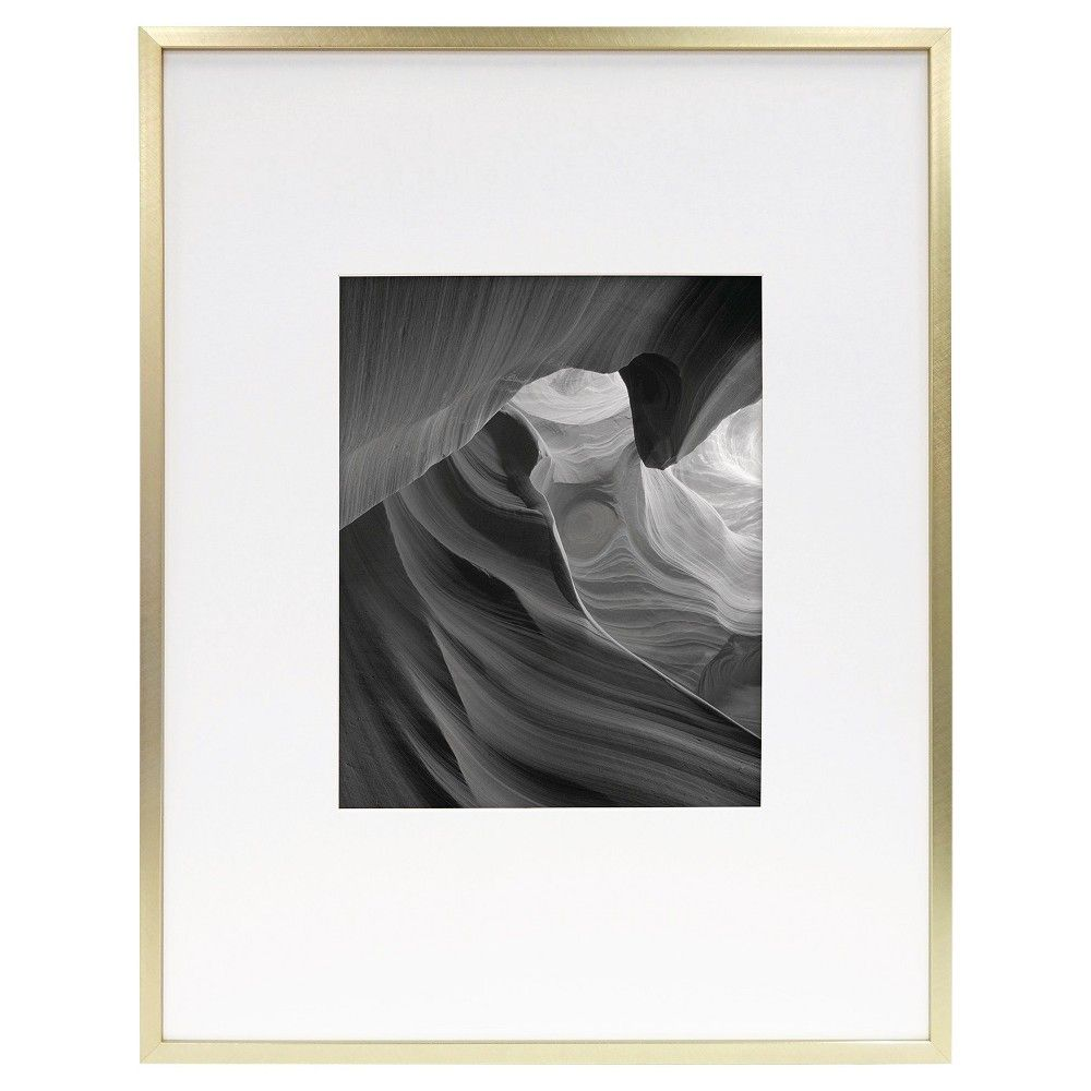 Brass Wall Frame 14 X 18 Matted For 8 X 10 Photo Room