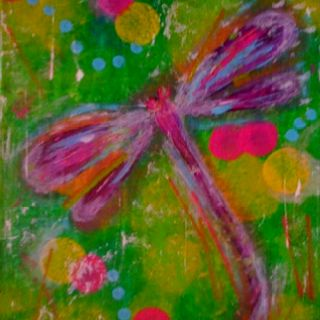 Dragonfly Painting.  Sold https://www.facebook.com/silverainstudios