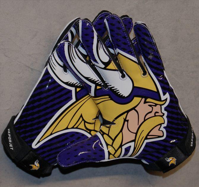minnesota vikings nike football gloves