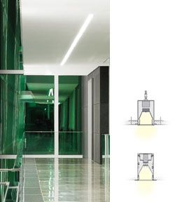 Selux M60 LED Recessed Linear Slot Light fixture