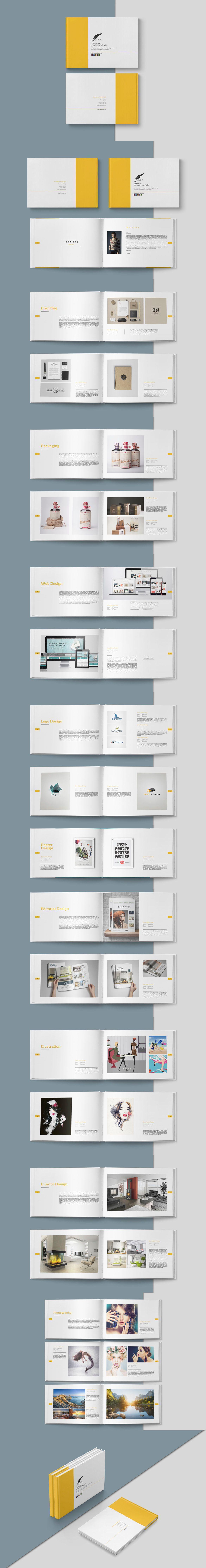 Graphic Design Portfolio Brochure Template InDesign INDD | Brochure ...