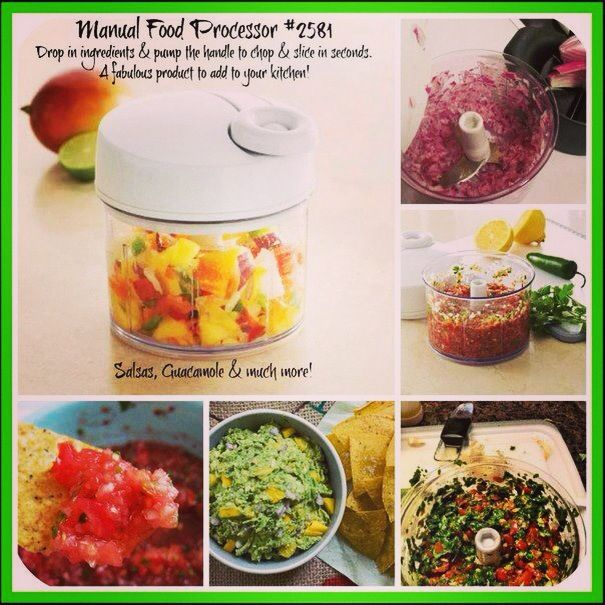 love my manual food processor from the pampered chef! made a